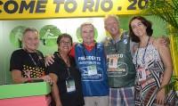 Welligton e Cristina Fritsch, Kaleco Sá - presidente Riotur, Roberto Campéas e Simone Lara